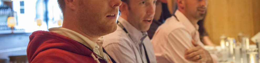 Devin Reams, Alex King, Shane Pearlman at dinner with WP Engine