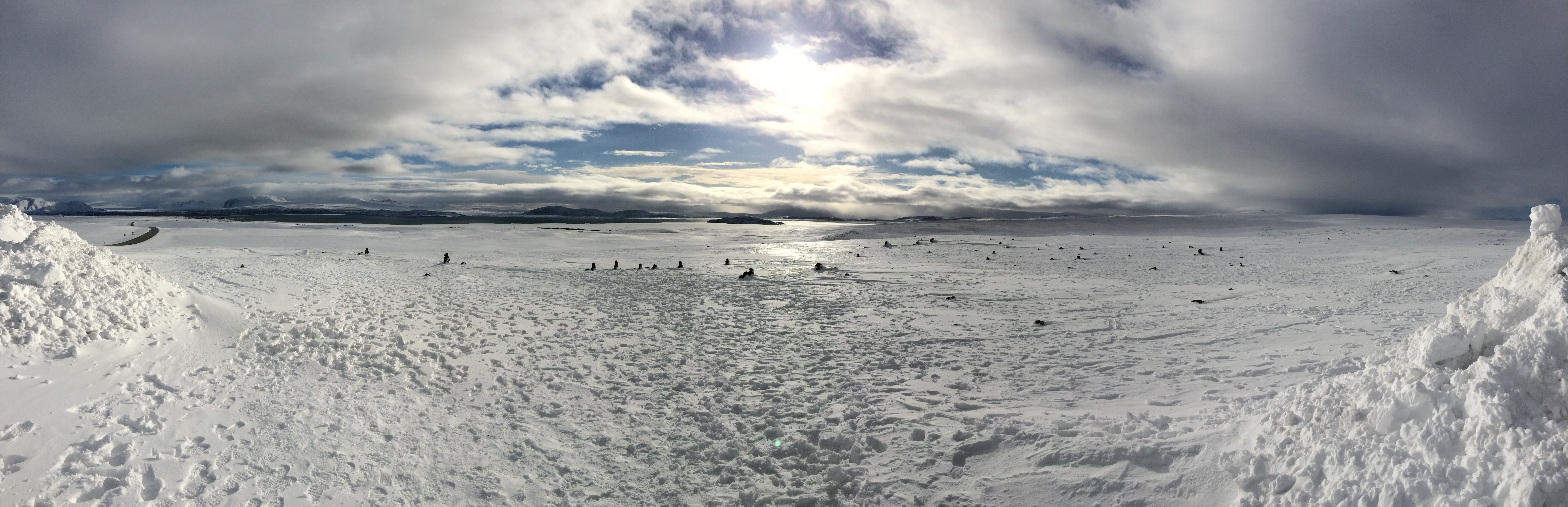 Panorama of the lake at Þingvellir