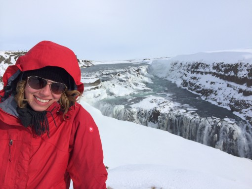 Rachel at Gulfoss