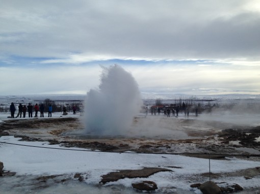 Strokkur geysey erupts