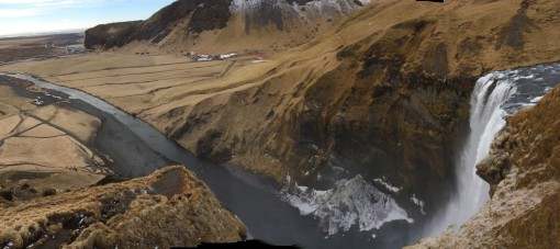 Panorama above Skógafoss